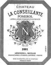 Wine Ch. La Conseillante 2001