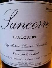 Wine Francois le Saint Sancerre Calcaire Biodynamic 2018