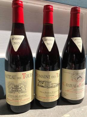 Wine Domaine des Tours Vaucluse Rouge 2015