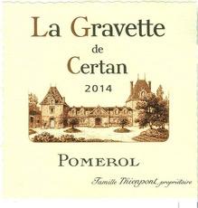 Wine La Gravette de Certan Pomerol 2014