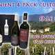 Wine New Arrivals 4 bottles Assorted Volcanic White and Red 4pack