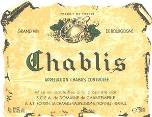 Wine Domaine Boudin Chablis 2018