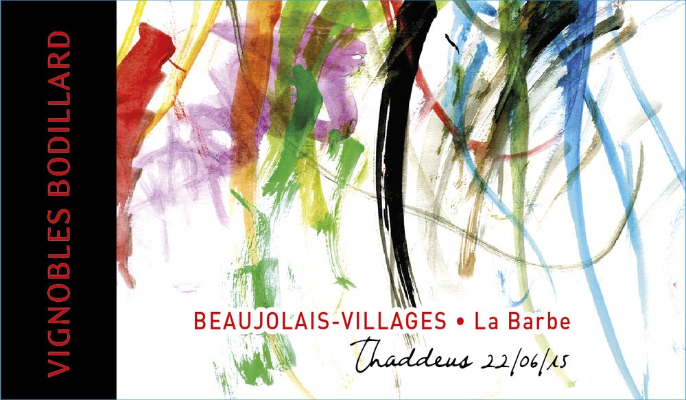 Wine Bodillard Beaujolais Villages La Barbe Cuvee Thaddeus 2018