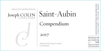 Wine Joseph Colin Saint Aubin Premier Cru Compendium 2018