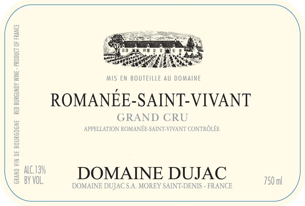 Wine Domaine Dujac Romanee Saint Vivant Grand Cru 2017 original case
