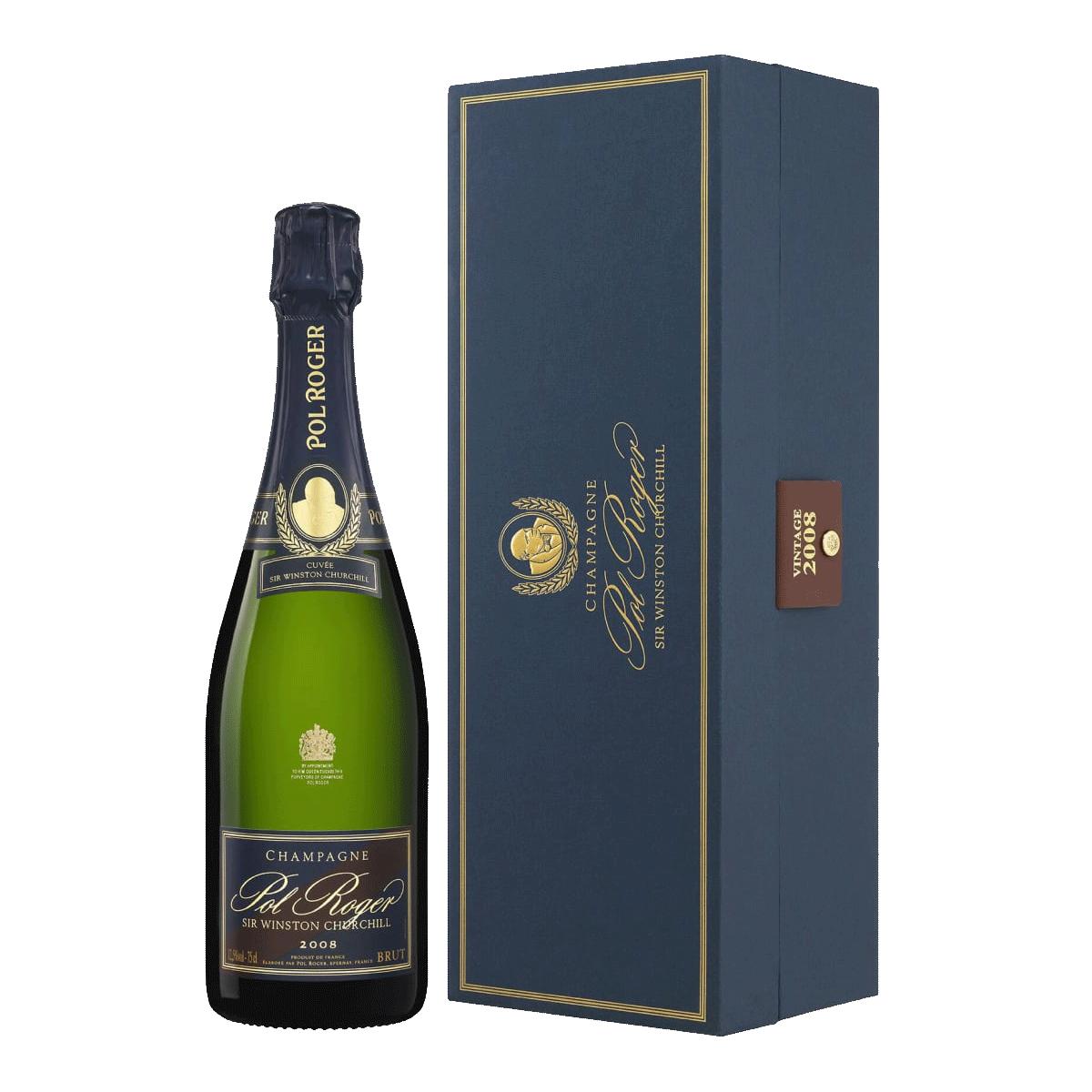 Sparkling Pol Roger Champagne Brut Sir Winston Churchill Gift Box 2008
