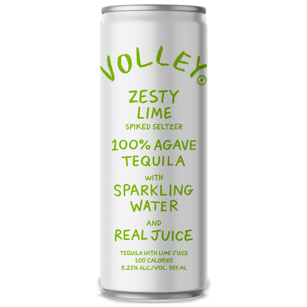 Spirits Volley Zesty Lime Spiked Seltzer 355ml cans