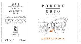 Wine Podere Orto Orange Wine Ambrato 2018
