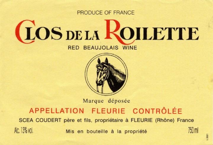 Wine Clos de la Roilette Beaujolais Fleurie 2019