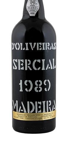Wine D'Oliveira Sercial Madeira 1989