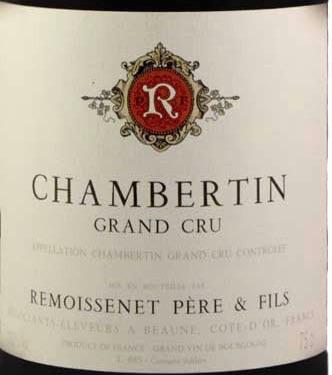 Wine Remoissenet Chambertin Grand Cru 1989 1.5L