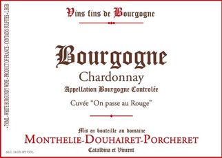 Wine Monthelie Douhairet Porcheret Bourgogne Chardonnay 2017