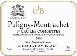 Wine Domaine Coudray-Bizot Puligny Montrachet Premier Cru Les Combettes 2010