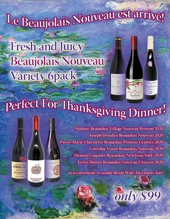 Wine Beaujolais Nouveau Variety 6pack 2020