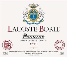 Wine Lacoste Borie 2014