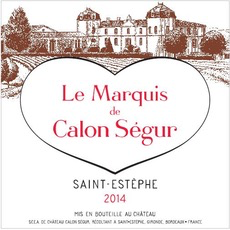Wine Ch Marquis de Calon 2014 375ml