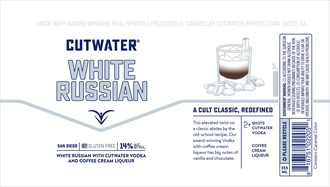 Spirits Cutwater White Russian Can 355ml
