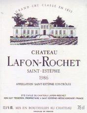 Wine Ch Lafon Rochet 1986
