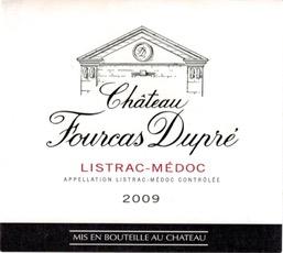 Wine Ch Fourcas Dupre 2009 3L