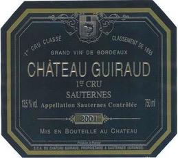 Wine Ch Guiraud 1997 500ml