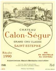 Wine Chateau Calon Segur 1989