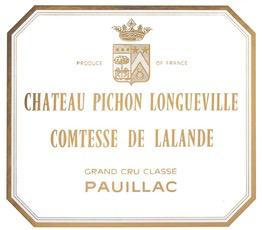 Wine Comtesse de Lalande 2018