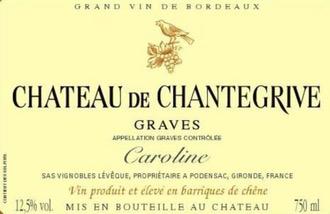 Wine Ch Chantegrive Graves Caroline 2018