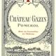 Wine Ch Gazin Pomerol 2018