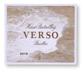 Wine Ch Haut-Batailley Pauillac Verso 2018
