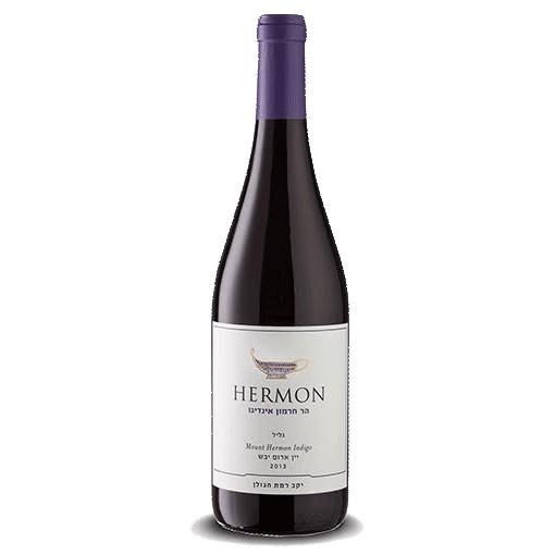 Wine Mount Hermon Indigo Red 2015 Kosher