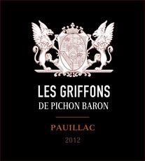 Wine Les Griffons de Pichon Baron Pauillac 2012