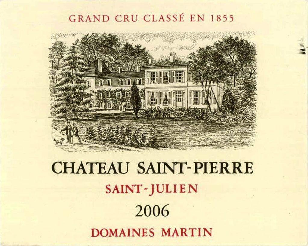 Wine Ch. Saint Pierre 2007