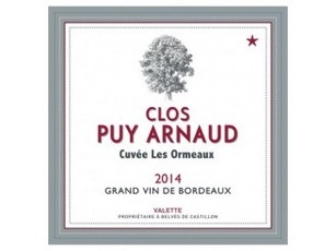Wine Clos Puy Arnaud, Les Ormeaux Castillon Côtes de Bordeaux 2014