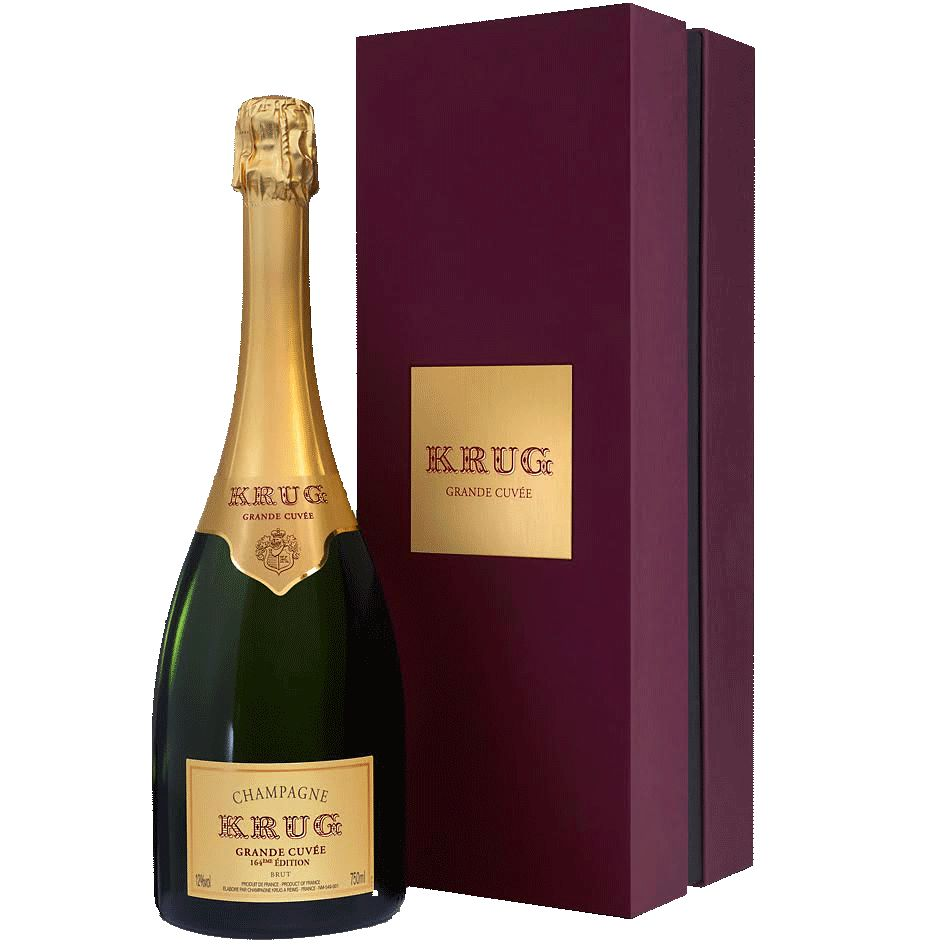 Sparkling Krug Champagne Brut Grand Cuvee 164th Edition<br /> gift box