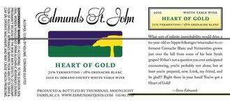 Wine Edmunds St. John 'Heart of Gold' White 2016
