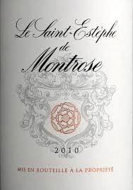 Wine Saint Estephe De Montrose 2014