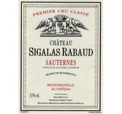 Wine Ch. Sigalas Rabaud Sauternes 375ml 2012