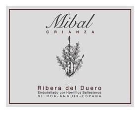 Wine Bodegas Hornillos Ballesteros Ribera del Duero Mibal Crianza 2014