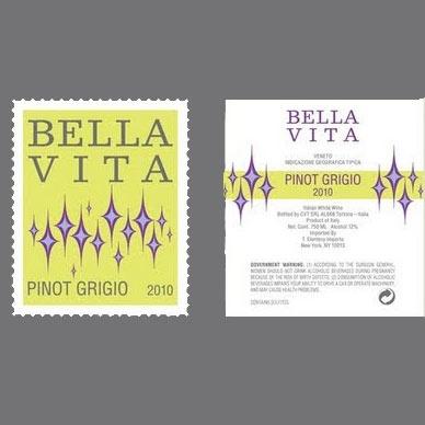 Wine Bella Vita Pinot Grigio 2018