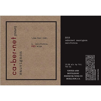 Wine Phonetik Wine Co. Cabernet Sauvignon 2015
