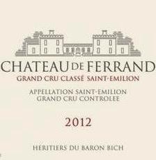Wine Ch. De Ferrand 2012