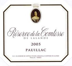 Wine Reserve De La Comtesse 2011