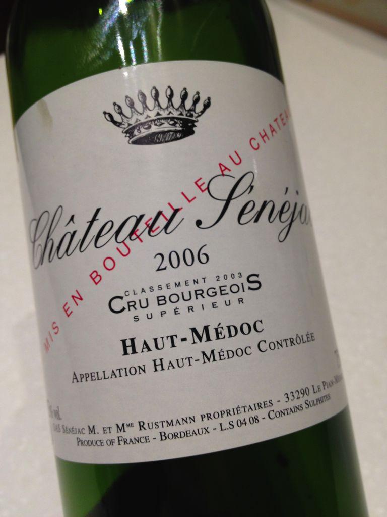 Wine Ch. Senejac 2012