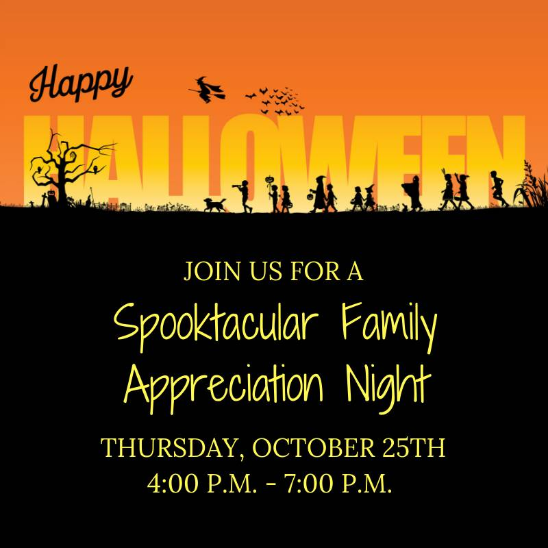 Halloween Family Appareciation Party