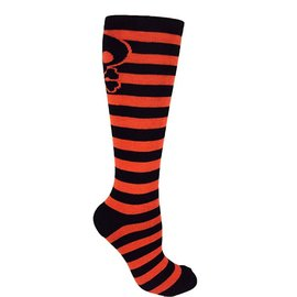 Moxy Halloween Striped Skull Knee-High