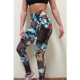 Bare Foor Apparel Dot Mesh Legging - Graffiti