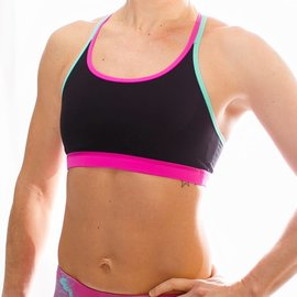 Born Primitive Warrior Sports Bra - Black Barbell for Boobs