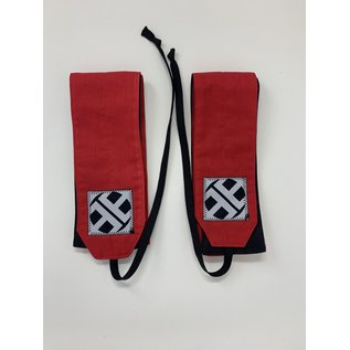 Endurance Apparel & Gear Red Solid Wrist Wraps