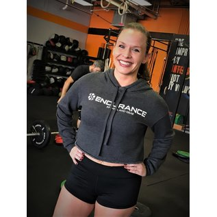 Endurance Apparel & Gear Endurance Crop Dark Grey Hoodie
