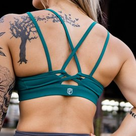 Born Primitive Lotus Sports Bra Emerald